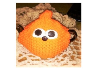 TEA COSY Hand Knitted Large  Pacman styleTea Cozy  Orange Tea Cozies - Knitted Tea Cosy Gift - Kitchen Accessory Handmade Orange Tea Cosy