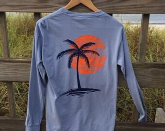LS Sunset Tshirt, Beach Tshirt, Nautical Tshirt, Comfort Colors Tshirt