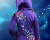 Neon Star Spray - Purple, M - Suitable for everyday awesomness, as pixie wear, festival fashion, and psy parties