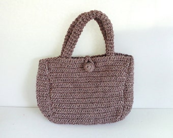 Vintage Straw Bag, Vintage Purse