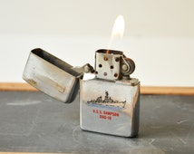 1989 Authentic Zippo Lighter - Collectible USS SAMPSON DDG-10