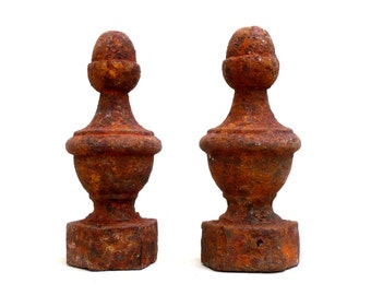 Cast Iron Finials , Fence Toppers. Antique Iron , Salvage iron , Assemblage Art