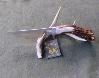 Phoenix Skinner Hunting Knife with Mule Deer Handle