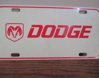Vintage Dodge ram license plate