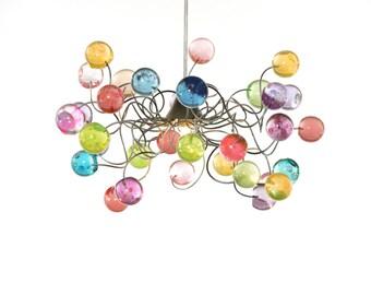 Lighting. Ceiling light Pastel color bubbles for girls bedroom, living room or bathroom.