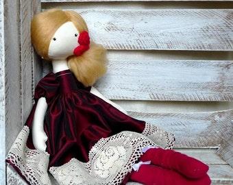 Cloth Doll Rag Doll Red Spanish Doll