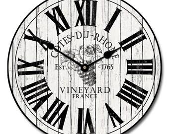 Wine Barrell Lid Clock 2