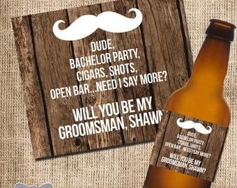 Will you be my Groomsman, Groomsmen beer labels, Groomsmen gifts, Groomsmen gift ideas, Will you be my best man, wedding beer labels, beer