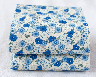 Fat Quarter | Floral Fabric | Royal Blue | Mini Flower Fabric | Ditsy Floral Print | 100% Cotton
