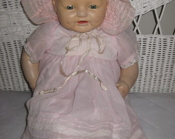 """Reduced Was 129 Pretty 'Dimples' Doll - E. I. H. Co. by Horsman  22"""" From 1928"""