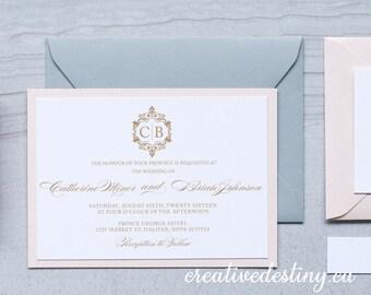 Elegant Wedding Invitation Template, Chic Wedding Invitation Digital Download, Stylish Wedding Printable Invitation