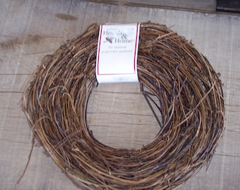 Natural grapevine garland 10 ft length, rustic crafts,wreaths,florals,new old stock