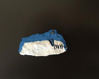 Mako Shark Painted Rock