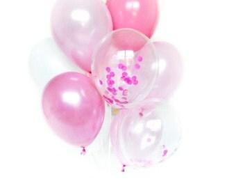 Confetti Balloon Set - Pink Peony