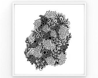 No. 4 | Ink Drawing Print