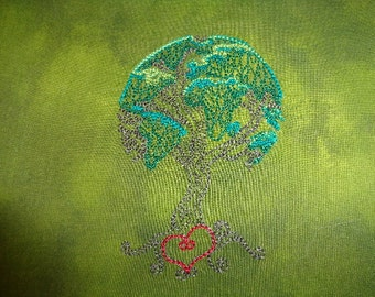 World Tree of Life - Embroidered Rune Bag