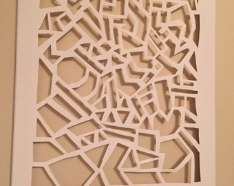 Geometry Cut Canvas