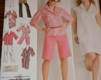 Simplicity 2894, Dress, Tunic, Pants or Shorts Sewing Pattern.