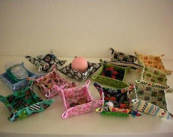Mini fabric bowls