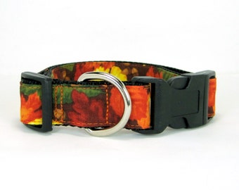 Fall Dog Collar/Thanksgiving Dog Collar(Mini,X-Small,Small,Medium ,Large or X-Large Size)- Adjustable