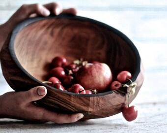 Wooden bowl, Fruit bowl, Salad bowl, Wood turning, Organic shapes, Wood bowl, Centerpiece, Wedding gift, Serving bowl, housewarming gift