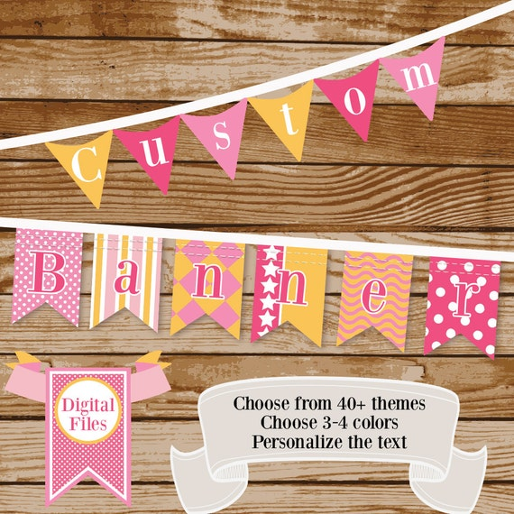 Baby Shower Custom Banners: Personalized Banner For Nursery