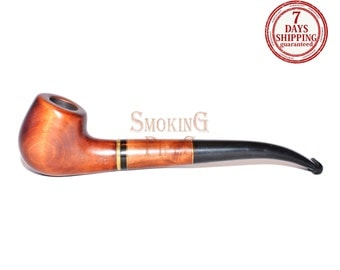 "Tobacco Smoking Pipe ""FINNISH"". Smoking Pipe. Woodcarved smoking pipe. Handmade, Handcarved, Tobacco pipes"