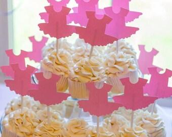 Tutu Cupcake Toppers, Pink