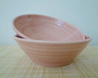 Cereal or Salad Bowls - Set of Two - Wheel Thrown Pottery