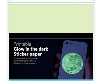 Free ship Silhouette GLOW in THE DARK Sticker sheets