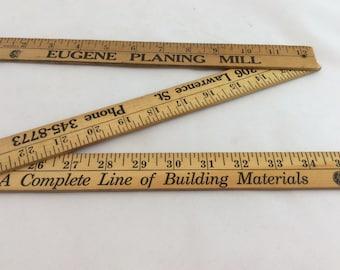 Vintage  Oregon advertising ruler, folding ruler