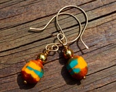 100 Year Old Czech Glass Beaded Earrings
