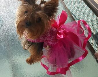 Dog Tutu Dress, Hot Pink