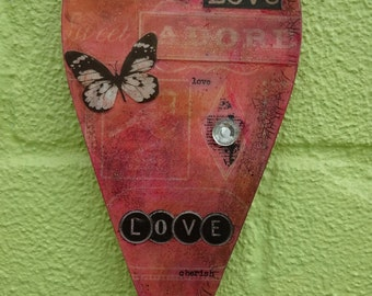 "Heart hanging - ""Love and Adore"""