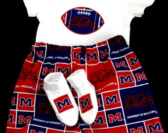Ole Miss Boys 3pc Boys Bodysuit set