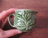 Sylvac jug // small green jug // sylvac cabbage leaf pottery // green jug