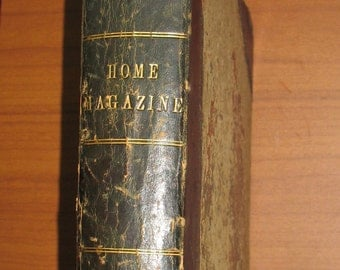1865 Antiquarian Book, Arthur's Home Magazine, 1800s Magazine, Civil War Era Book, Contains Many Articles and Illustrations, 1865 Fashion
