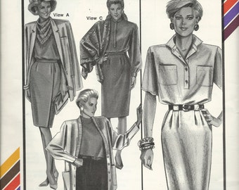 Uncut Vintage Sewing Pattern #451 - SLIM SKIRTS - by Stretch & Sew, Ann Person 1989 -  All Straight Skirts / front pleats, wrap around skirt