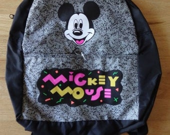 Vintage Disneyland Mickey Mouse 80's Backpack NEW OLD STOCK