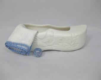McCoy Floraline Pottery Dutch Shoe Planter, Ceramic Planter