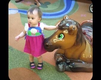 Sak's Fifth Avenue Vintage Jumper Dress Size 18 Months Toddler Dress