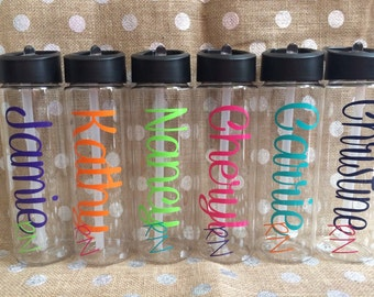 Personalized 24 oz BPA Free Water Bottle with Pop up straw Perfect for Your Favorite Nurse