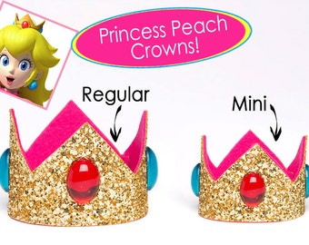Princess Peach Crown Super Mario Bros Princess Peach Crown SINGLE Crown Cosplay Princess Peach 2 Sizes Available