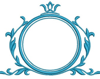 crown and    frame -  3 sizes embroidery designs, instantly download