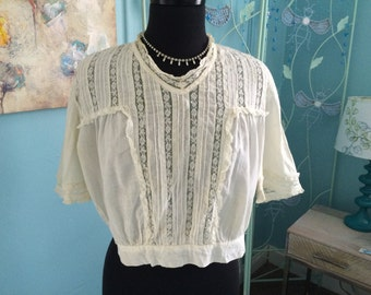 Edwardian/antique cotton blouse