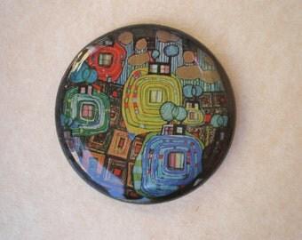 Art brooch - Art jewelry - resin brooch