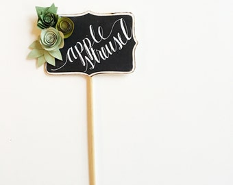SUCCULENT  Wedding Décor, Paper Flowers Wedding, Table Numbers Rustic, Wood Table Numbers, Mini Chalkboard Sign, Boy Baby Shower Decor