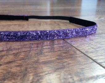 Purple sparkle headband. Purple headband, sparkle headband, glitter headband, girls hair accessory, women's headband, girl's purple headband