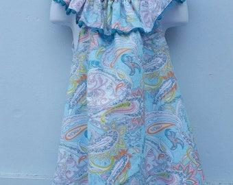 Paisley Ruffle Collar Dress