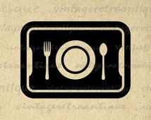 Printable Digital School Lunch Tray Graphic Cafeteria Tray Image Download Vintage Clip Art Jpg Png Eps  HQ 300dpi No.4364